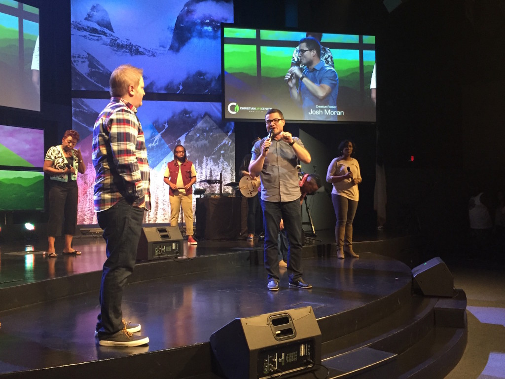 In fact, worship was SO strong that our Associate Pastor of Creative Ministries, Josh Moran, had to come onstage from the control room to give us a prophetic word that was on target!