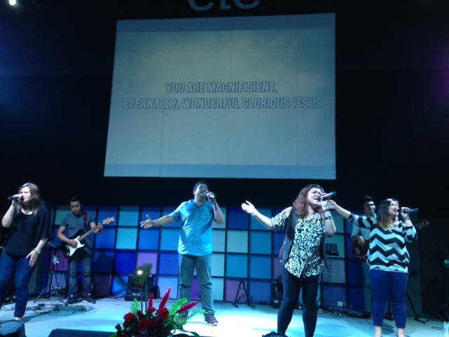 The worship at CLC-Davao is as anointed as anywhere in the world I've been, and today was no exception!  LOVE this team!