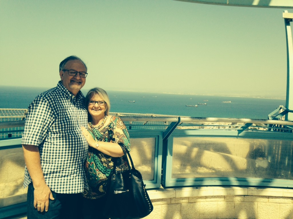 We had time to see a few sights here, including the beautiful Mediterranean sea off the coast of Haifa.
