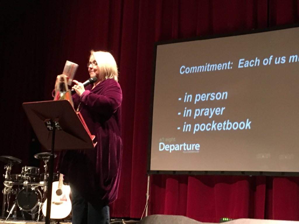 Meanwhile, Chris brought the message at our NWI campus today, and from what I heard, she bled a lot, too!