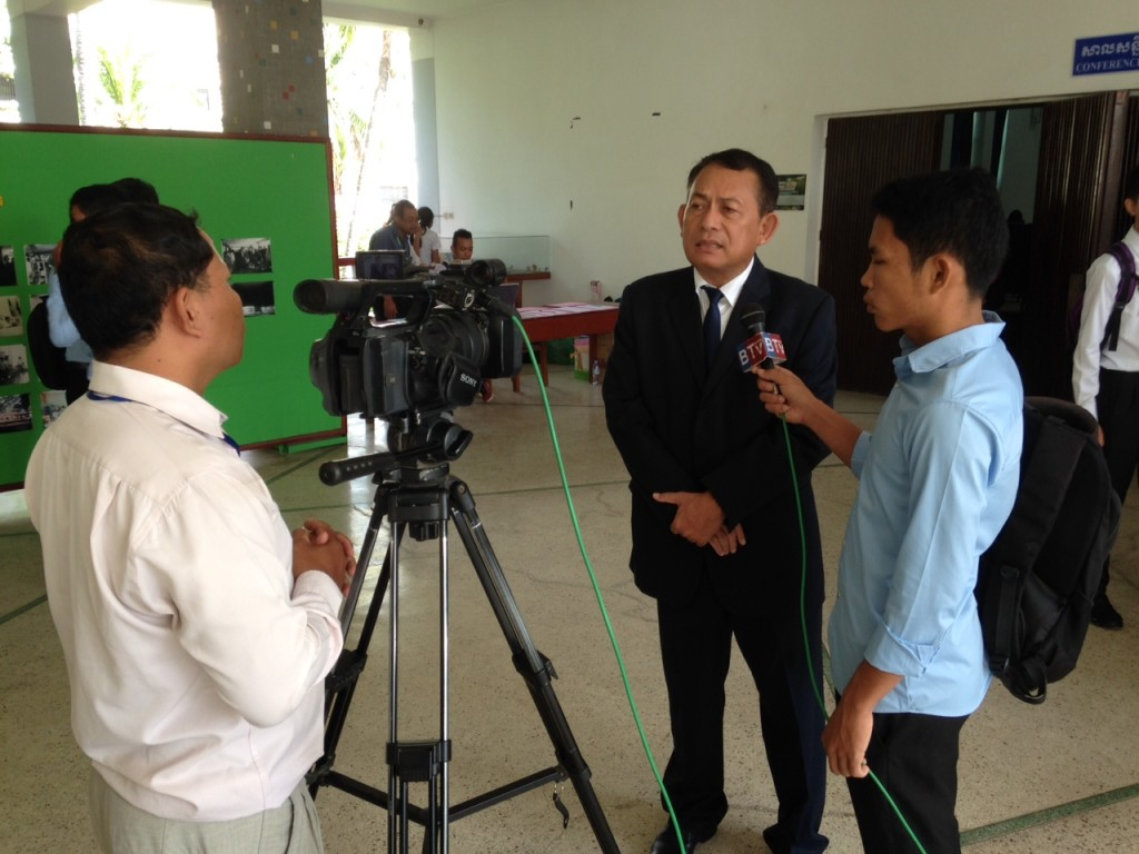 Another Cambodian government official, Mr. Cheoun (who first invited us to do the seminars) was interviewed about the importance of these meetings.