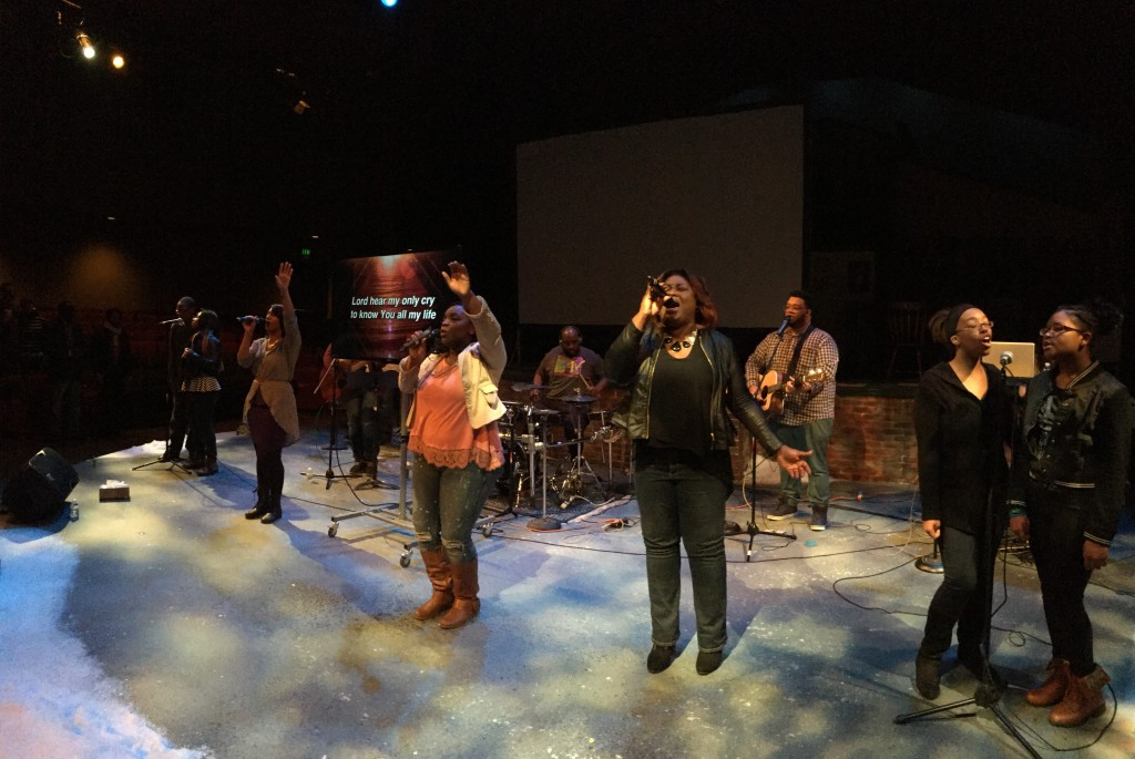 At NWI today, a combined youth/adult team led worship.