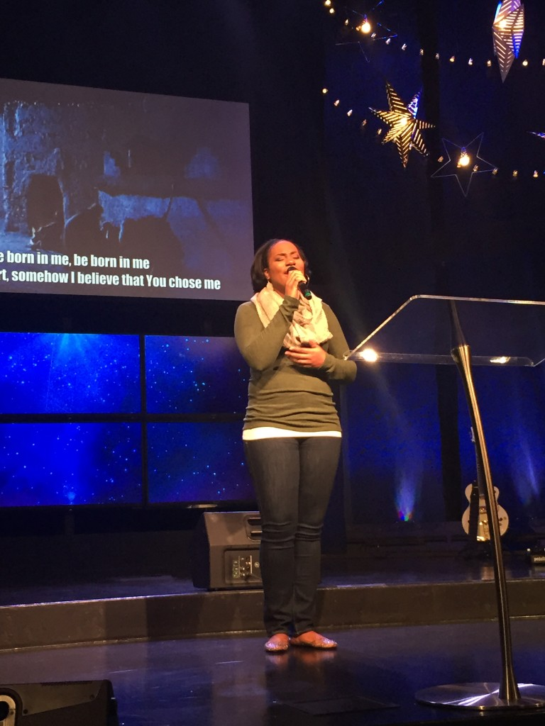 """...but the solo of """"Be Born in Me"""" by Amanda Edwards REALLY brought the message home!  Thanks for being such an instrument in God's Hands today, Amanda!"""