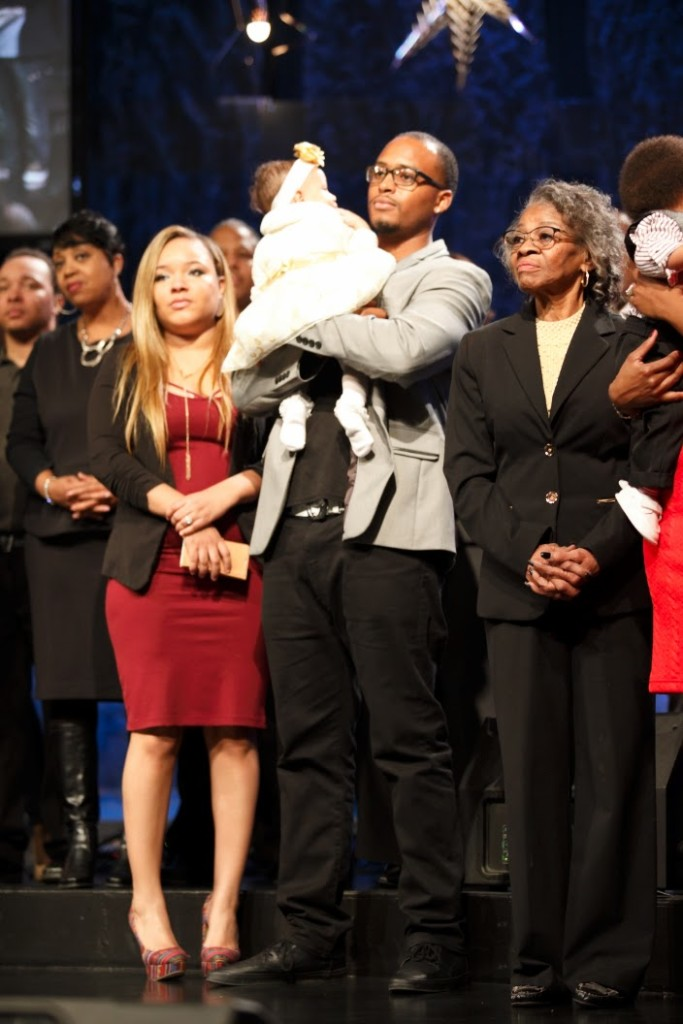 Baby dedications always contribute to a sweet Spirit: David & Latthaniah Wells presented Ahlena today.