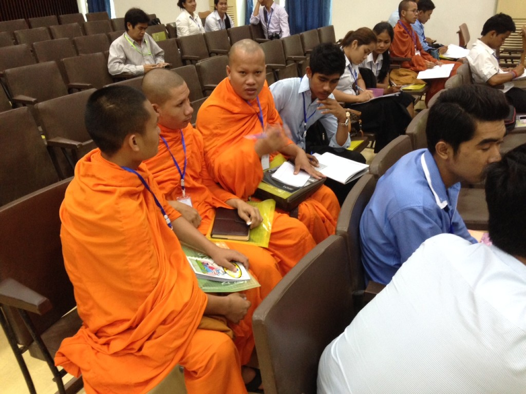 They especially enjoyed the opportunity to discuss what they were learning, including these young Buddhist monks-in-training.