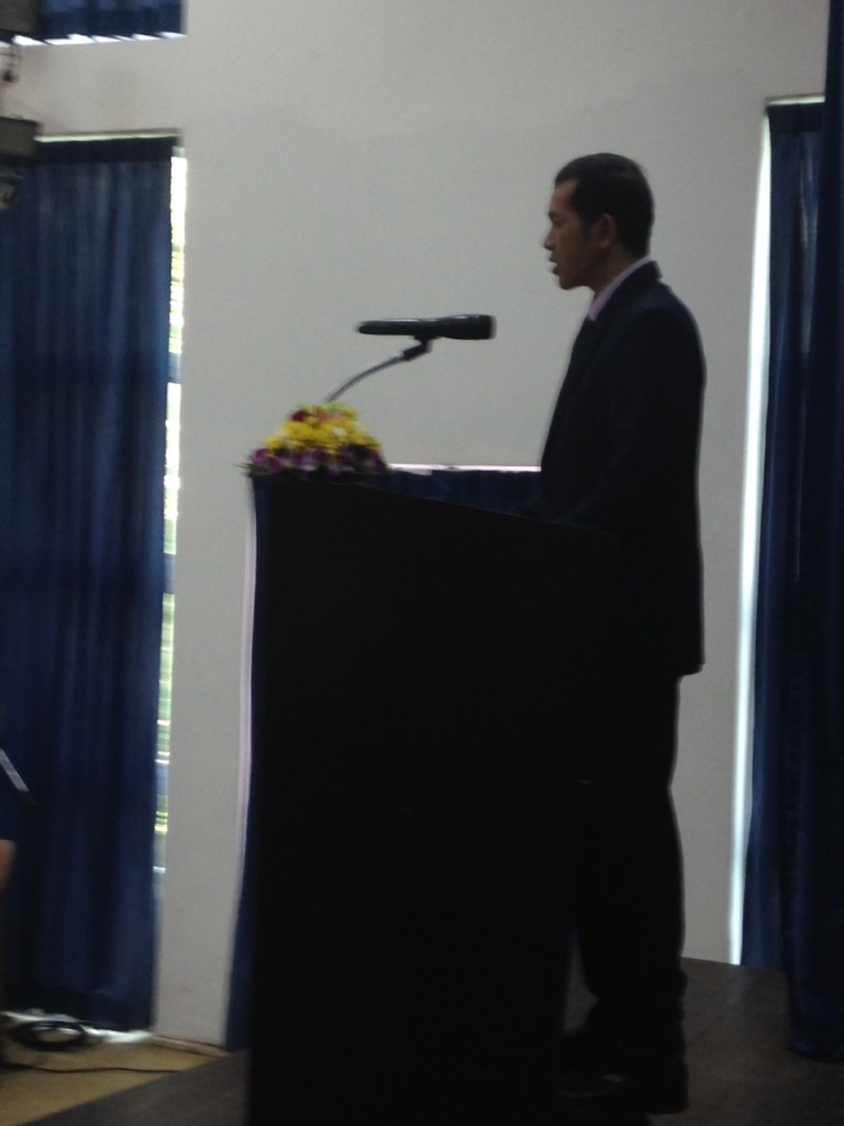 "As before, theCambodian  Ministry of Education, Youth & Sports opened the day with a formal ceremony to welcome the delegates.  This official from the Ministry of Education really ""teed it up for us"" by telling the students how important the principles we were teaching would be to their future success!"