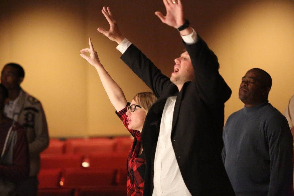 I love the fact that Sam & Taylor aren't just Campus Pastors at NWI; they're worshippers, too!