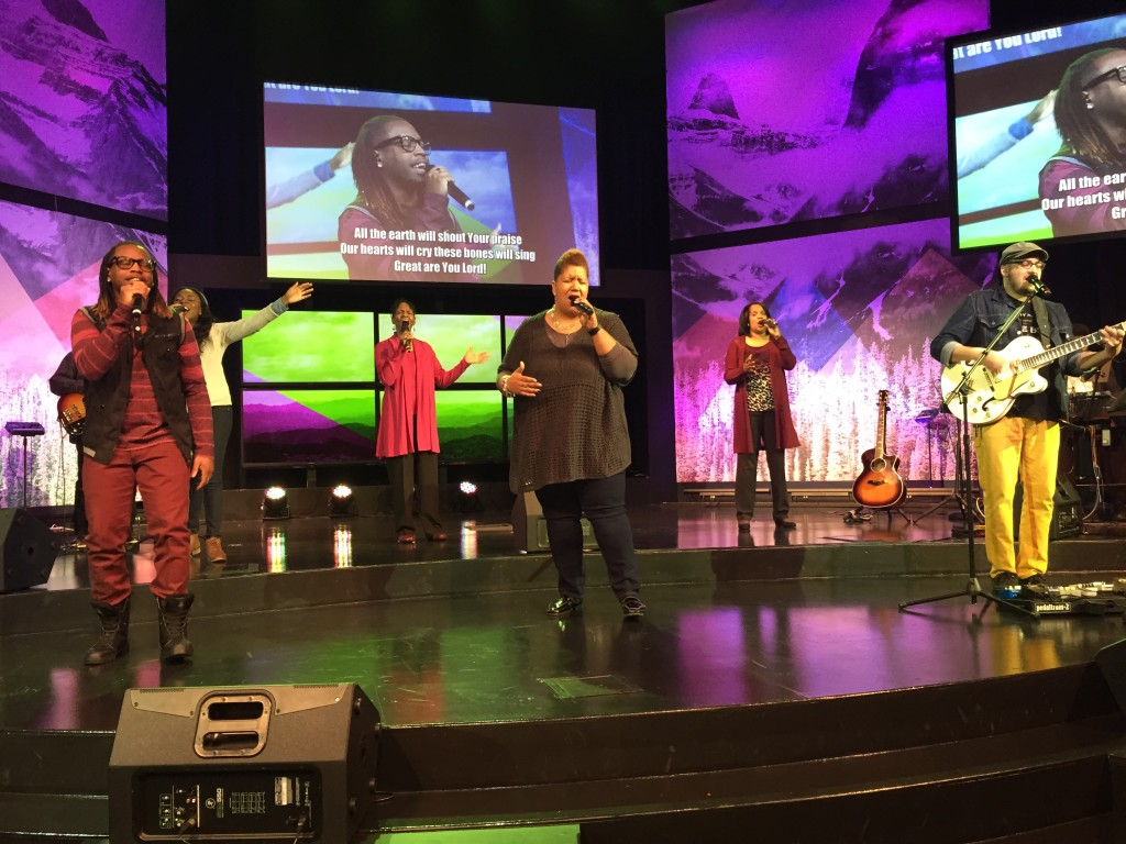 The Praise Team wasn't affected by the snow & ice - they still brought the Presence!