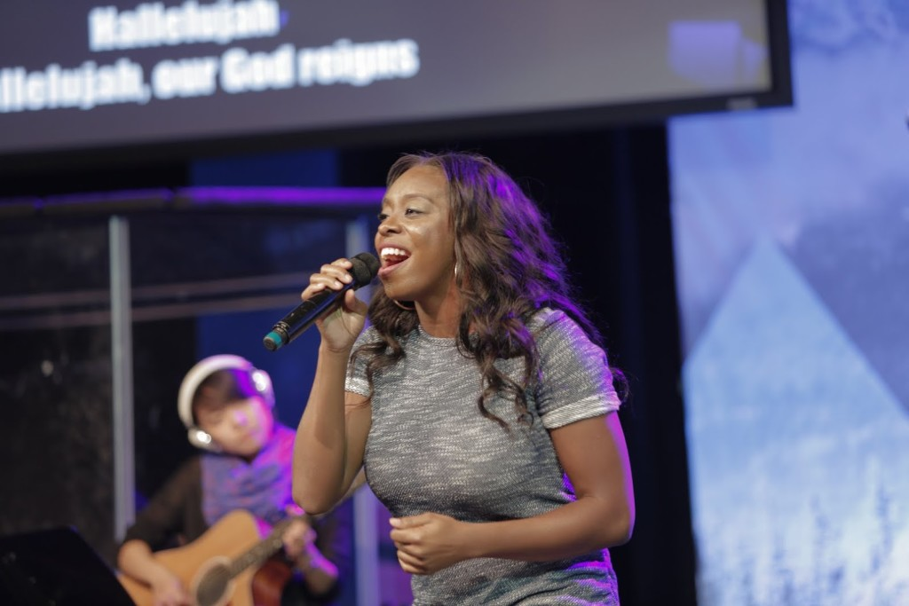 Although Harmony was forced to play drums today, Tiffany Hines & the team led us into God's Presence without a hitch.