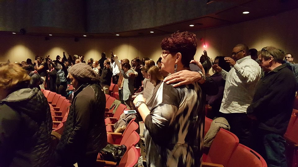 After great worship time at NWI, people prayed for each other to be brave in doing what God is calling them to do.