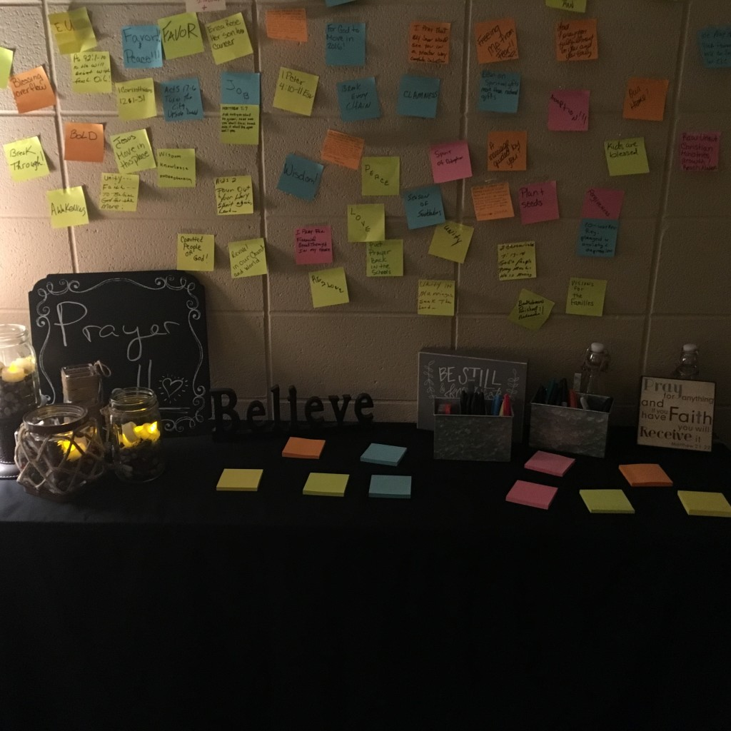 The new prayer wall at our NWI campus.