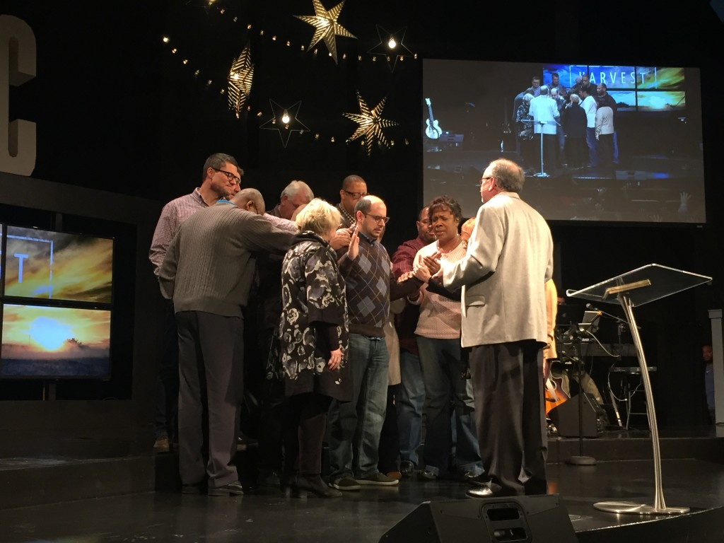 Pastors & Elders praying over Bob Contino-