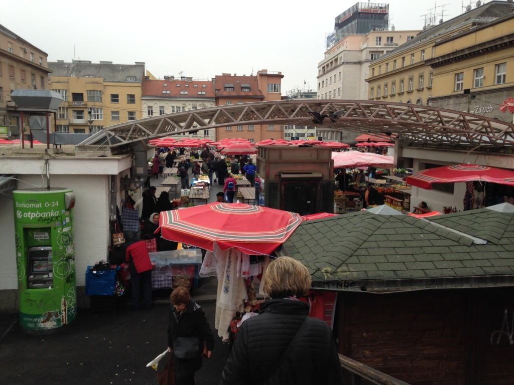 We walked a bit further & discovered the central market in downtown Zagreb - fascinating stuff here!