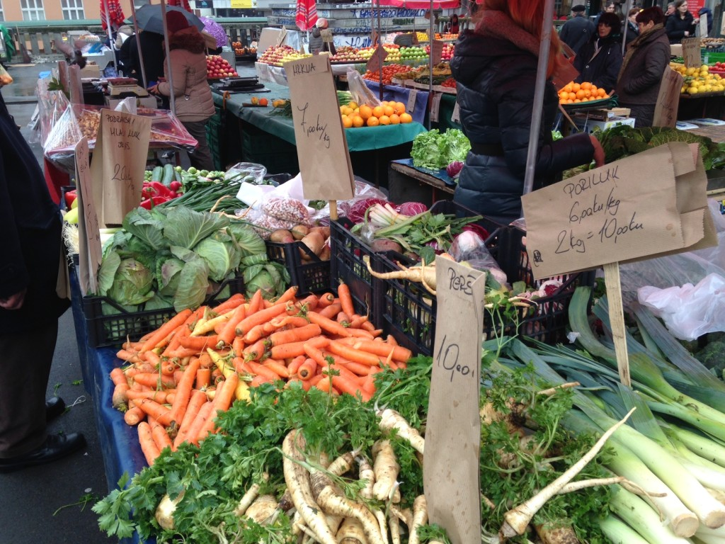 I was amazed at the vegetables here - Chris said the carrots were SO orange she wanted to eat one on the spot!