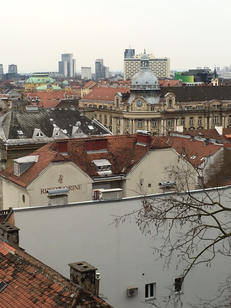 We went to the top of a hill overlooking the entire city of Zagreb - such architecture!