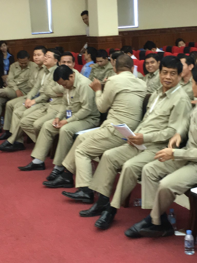 The faculty, all in khaki's, seemed just as interested in our teaching as the students!