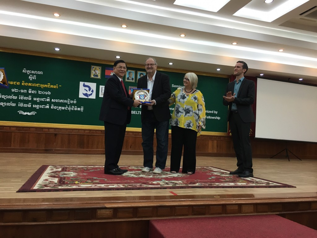 Dr. Ly Cheng presented Chris & me with a beautiful silver plate of the Beltei logo at the close of the seminar.