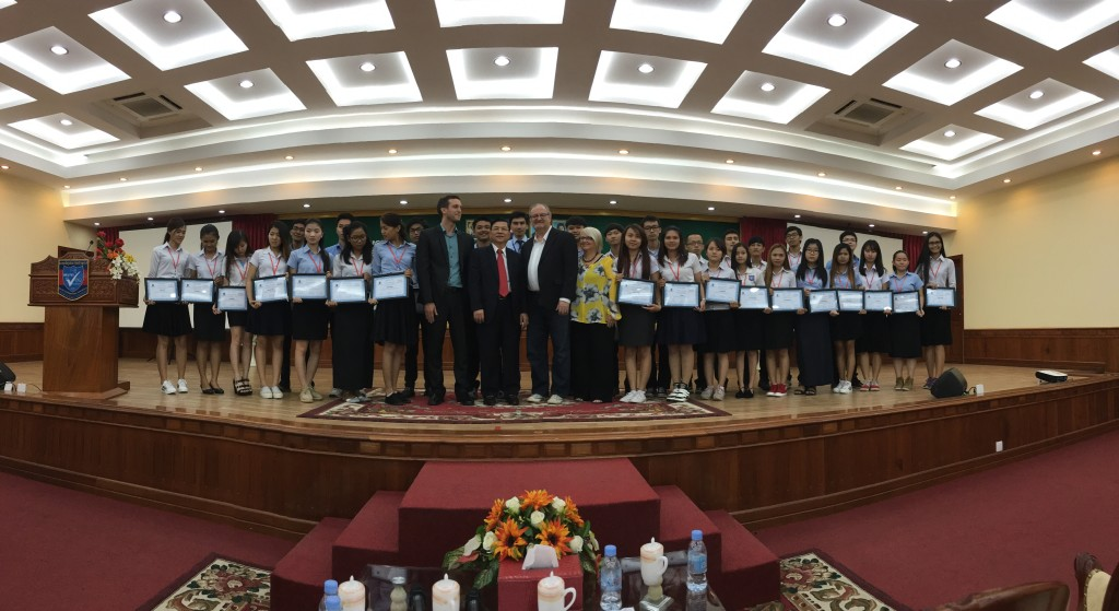 Just a sample of the 553 students & staff who completed the seminar & were awarded a certificate standing with us