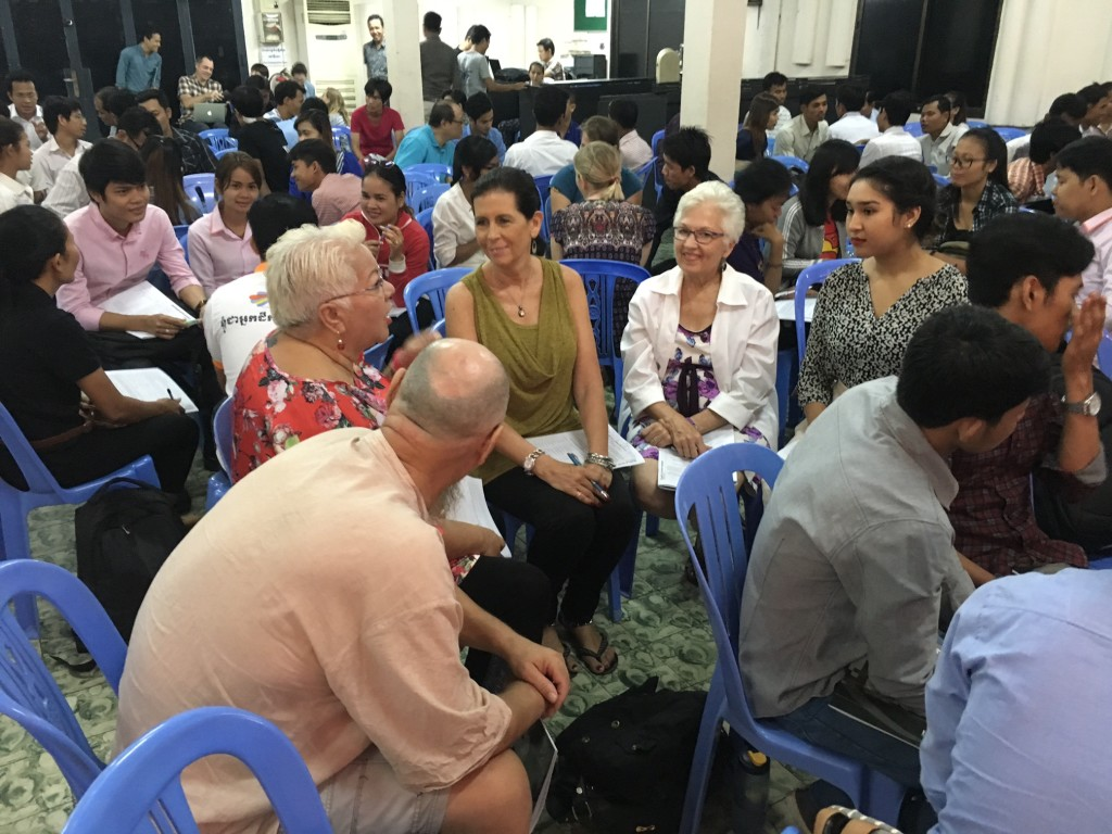 Leaders from Australia, New Zealand and USA enjoying a discussion time together