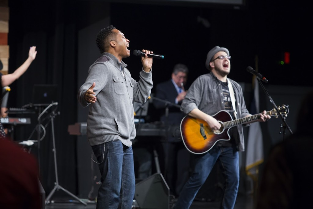 Nothing like heartfelt, passionate worship to bring the Presence of God into the room!  (Thanks, Jon & Harmony, for leading the way!)