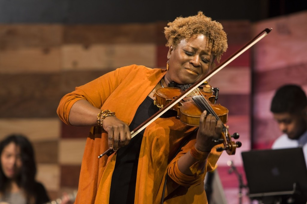 "We are BLESSED at CLC with a great team of musicians, including the ""barefoot violinist"", Regina Williams!"