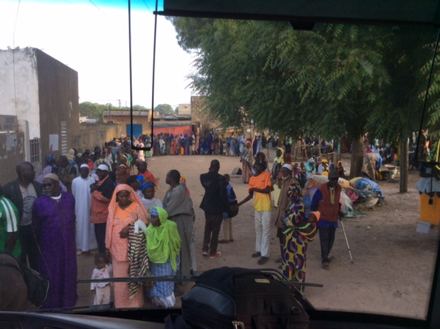 People waiting in line for medical care in the village of Karang that took 7 hours of travel for our team to reach.