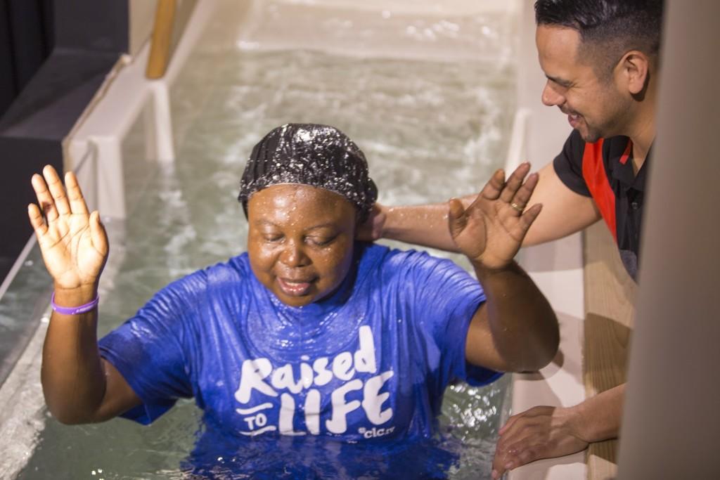 We baptized 4 adults today, including Peace Omeje! (Loved hearing each testimony, too!)