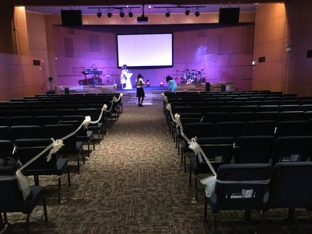 And just One Month after opening our building in Hammond, Pastor Sam conducted the first wedding there today!