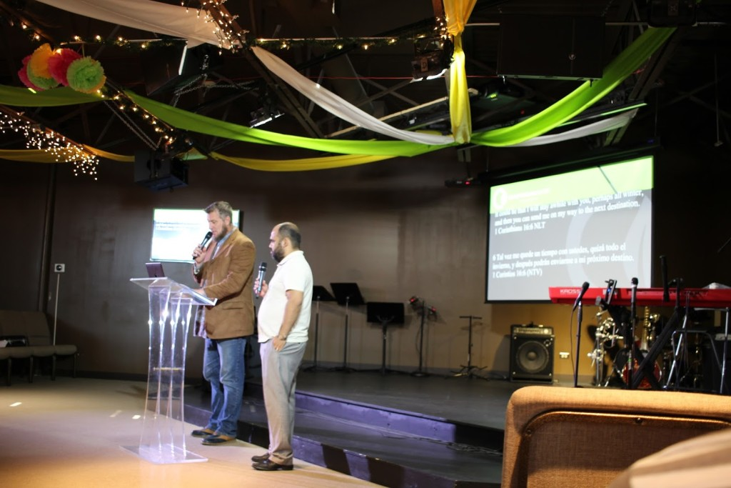 Pastor Ben brought the Word (with Jorge Arevalo translating into Spanish) at Blue Island (since we had their outgoing & incoming pastors in Tinley Park today)