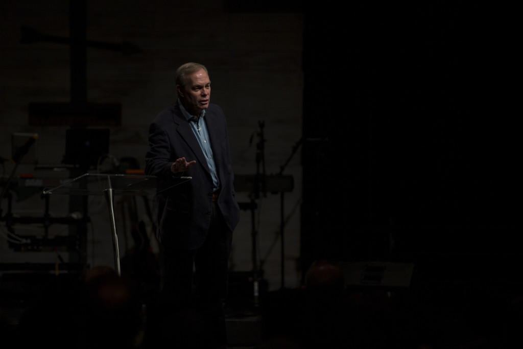 Bible teacher Andrew Wommack was our guest for all 3 services today.