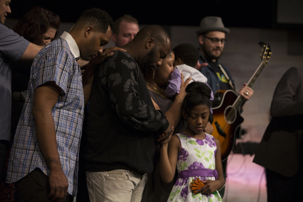 We dedicated ed 3 children to the Lord in Tinley Park this afternoon.