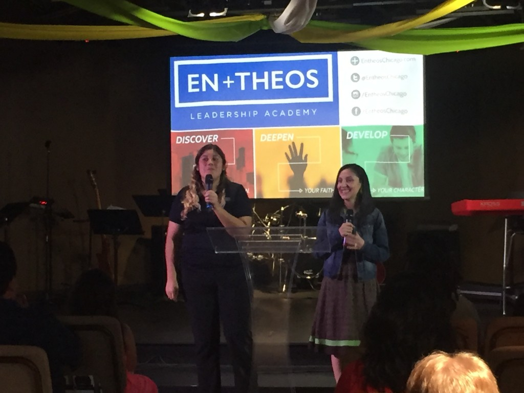 At our Blue Island campus, Bianca Medina came back home to testify of her experience at En-Theos this year.