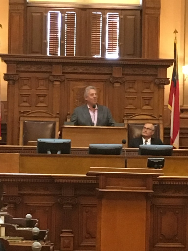 There, in the Georgia House of Representatives, John introduced us to the Georgia Lieutenant Governor, Casey Cagle, who is a Christian leader in his own right