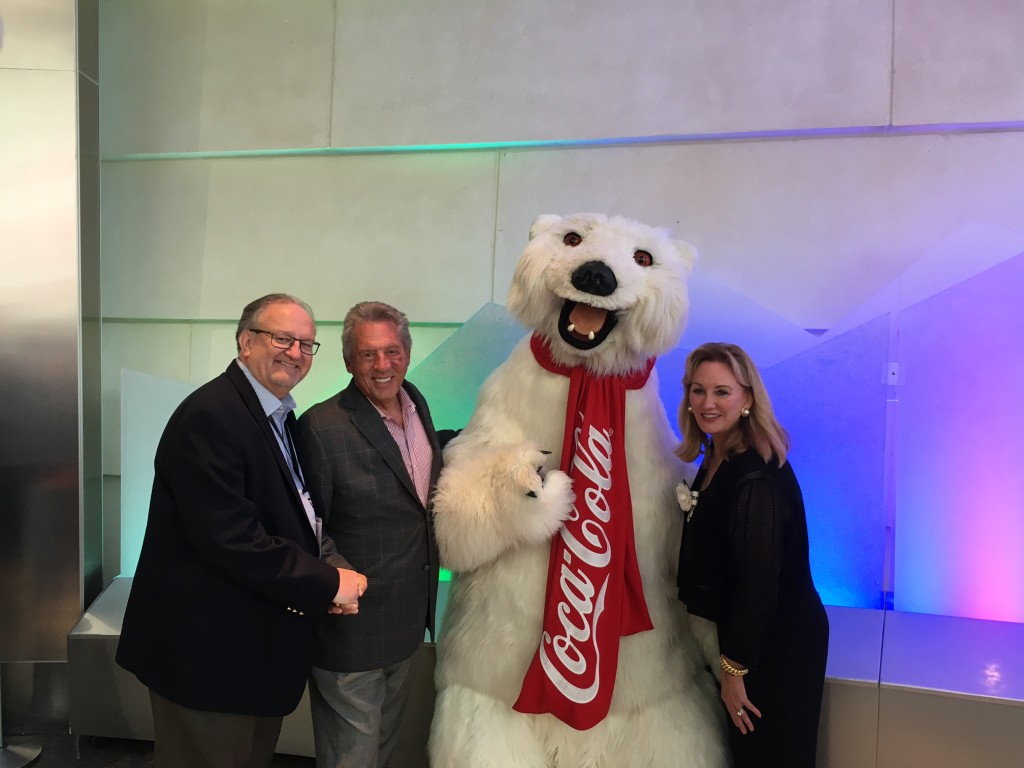 With the Coke Bear & John & Margaret Maxwell at the World of Coke in Atlanta