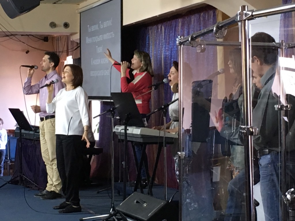 The church worship team led us into His Presence before the prayers began.