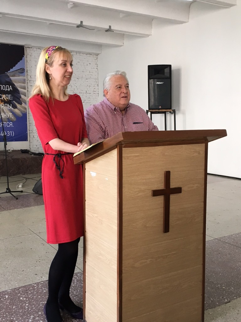 Oksana interpreted for Dr. David Shibley and me as we shared from the Scriptures.
