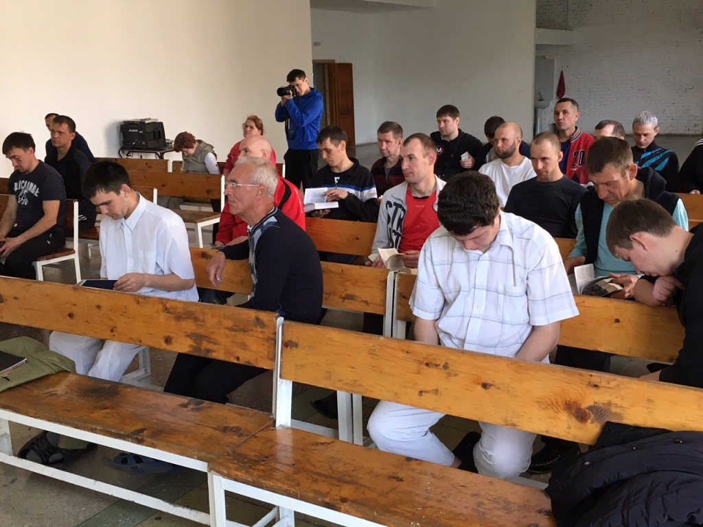 Some of the 60 men at the Teen Challenge center we visited.