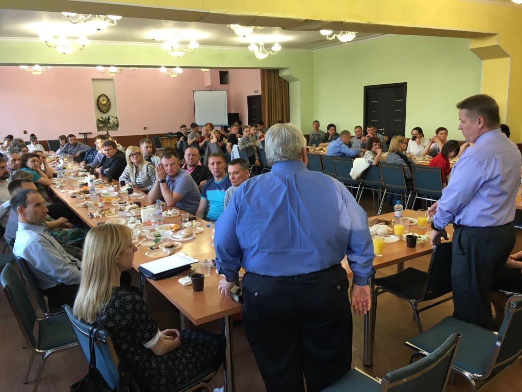 After service we had dinner with 15 church planters, plus the recent missions school graduates (future planters) AND the Teen Challenge workers.  Dr. Shibley challenged them with a word from the Lord.