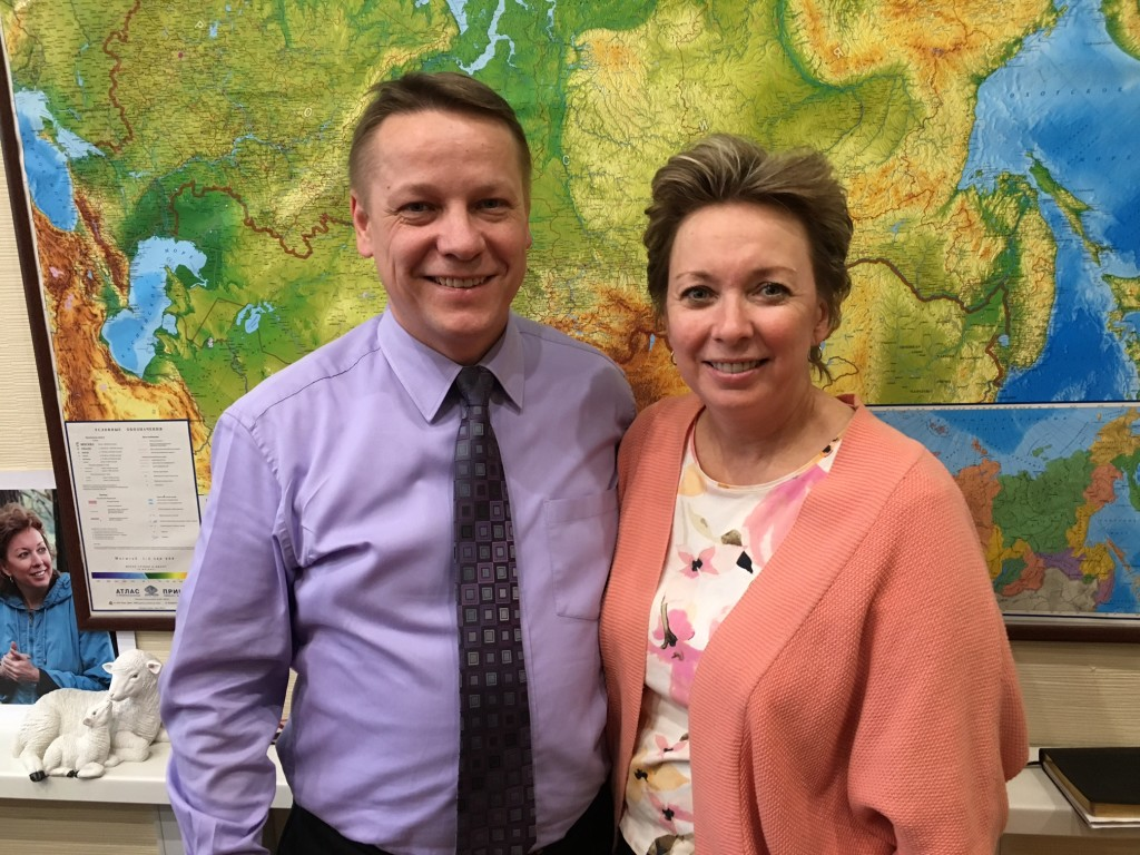 I couldn't be more impressed with Pastors Ilya & Janet Bantseev and all they've accomplished here in Siberia already.  I hope you'll remember their faces when you pray.