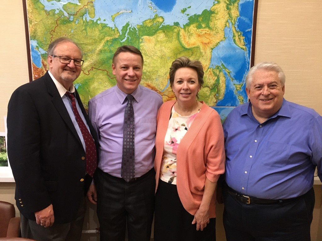 I said goodbye to an old friend, Dr. David Shibley (R) and to some new friends, Pastors Ilya & Janet Bantseev, before returning home today.