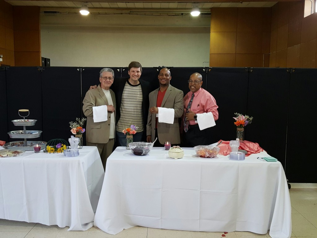 At NWI, our MEN chose to serve all the mom's at a special reception in their honor!