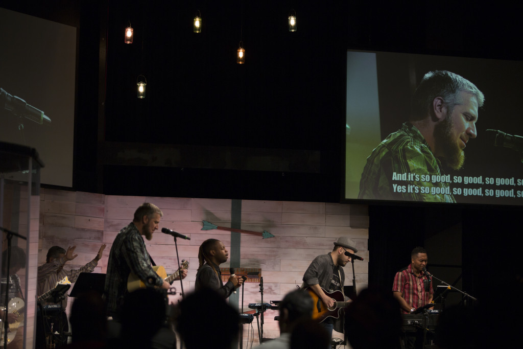 And at Tinley Park (like NWI), we gave all the moms a day off & an ALL-MALE team led worship!