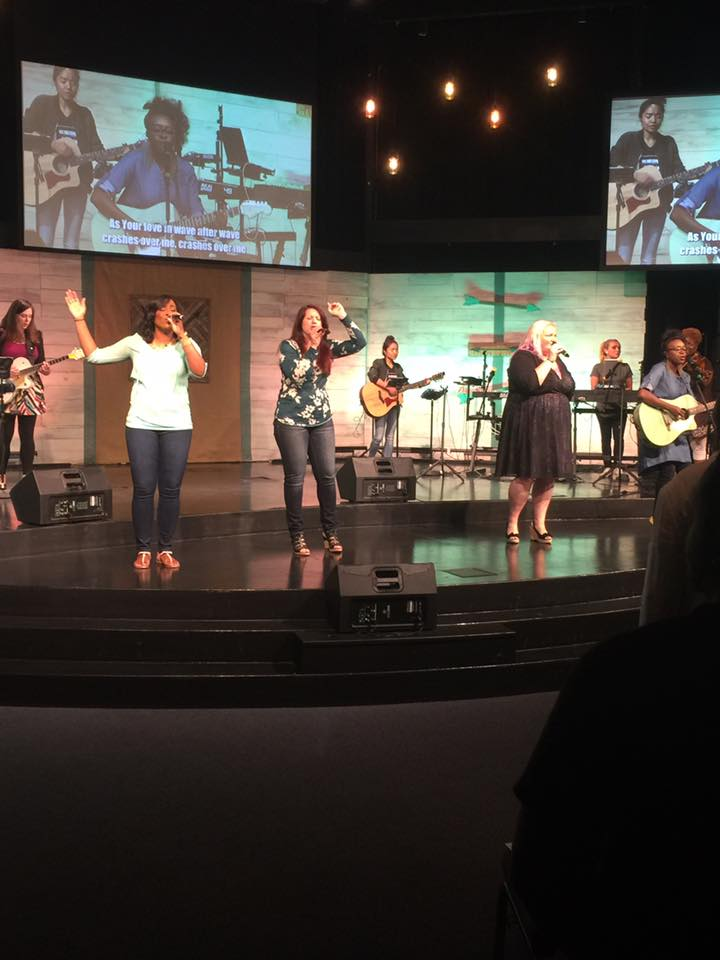 I was able to find this Facebook pic of our all-women's worship team at the Tinley campus today (thanks Tony Powell!)