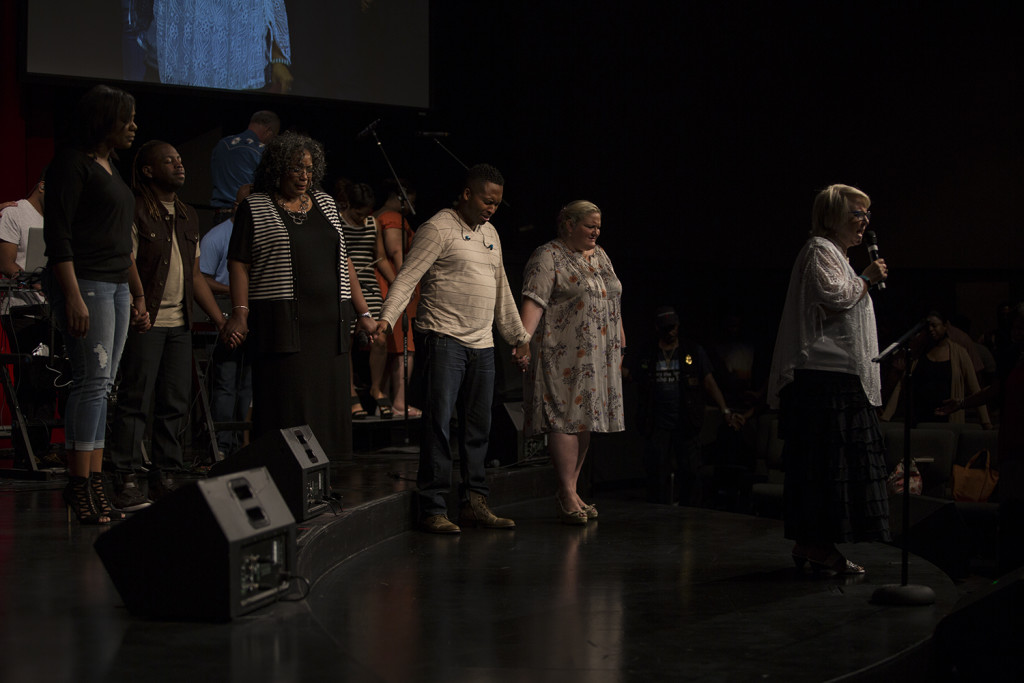 At each campus today, a CLC pastor led the congregation in prayer after this week's horrific events - 'Lord, heal our land!'