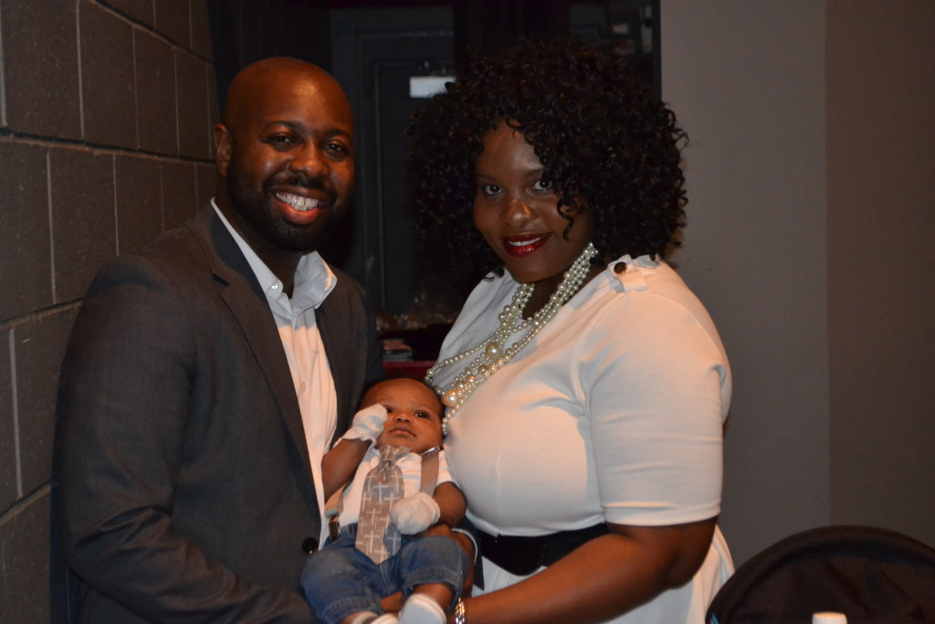 Rodney, Jr. & Nikki Young with Rodney III after the dedication.
