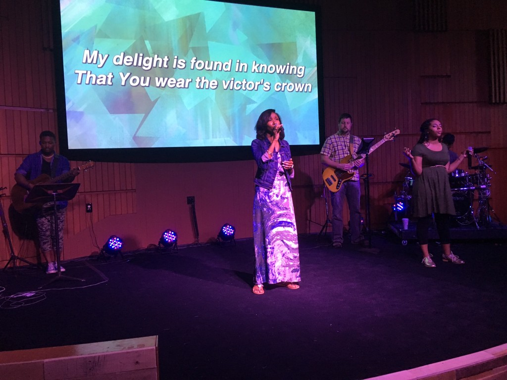 Candice Frazier helped us praise Him at NWI