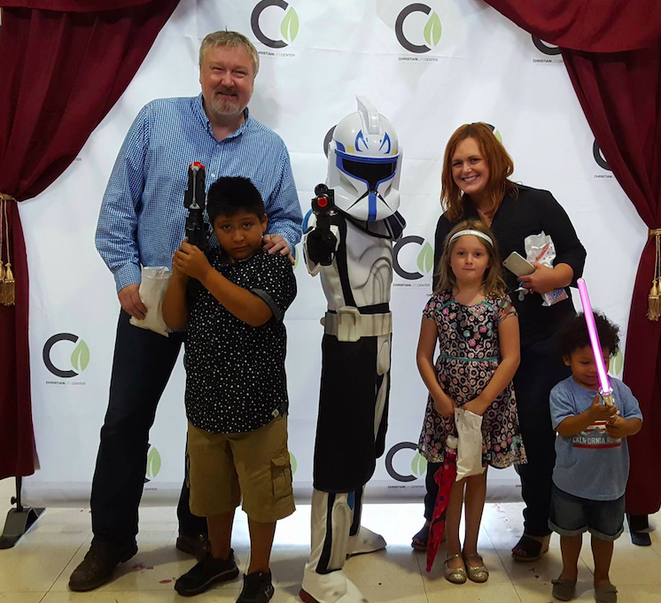 A visiting Storm Trooper made the photo booth at NWI more popular today-