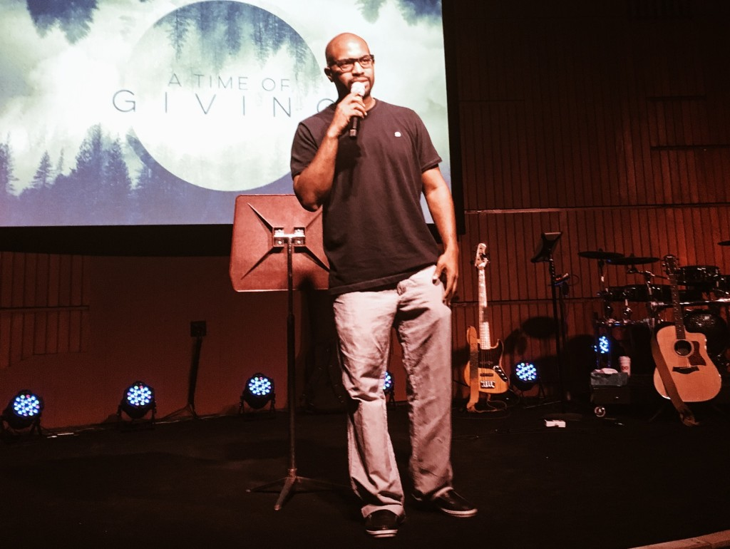"Christian Washington ""killin' it"" as service host at our NWI campus"
