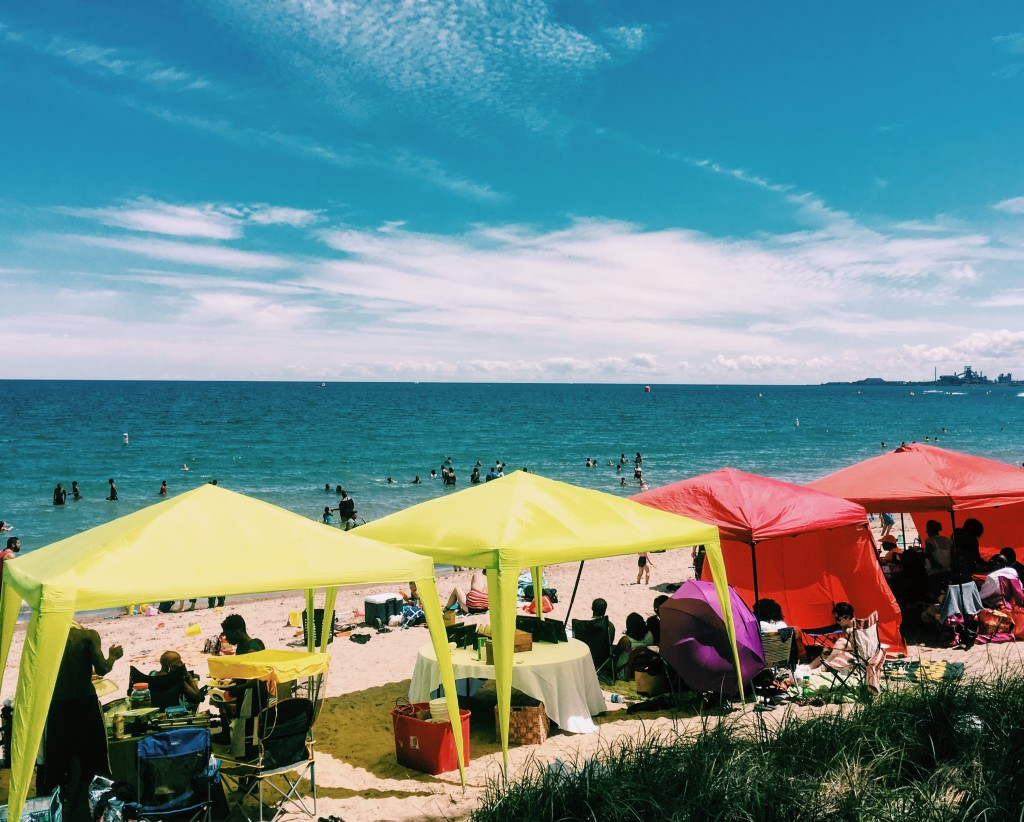 """Our NWI camp had """"Church at the Beach"""" yesterday with 340 people, one of their best attendances ever!"""