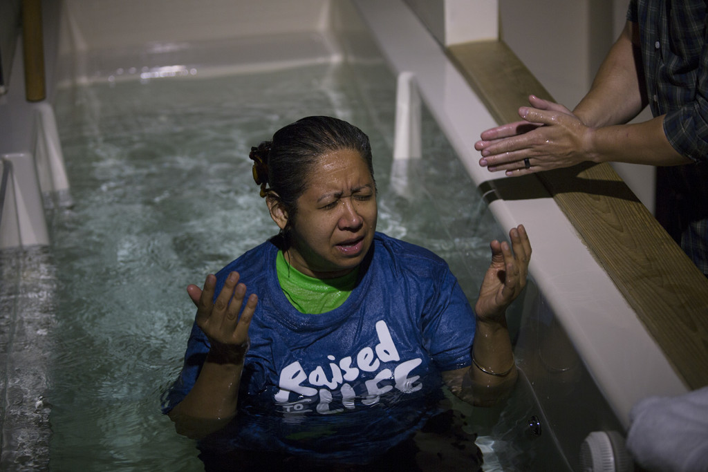 Anne Richmond enjoyed a beautiful moment with the Lord in baptism